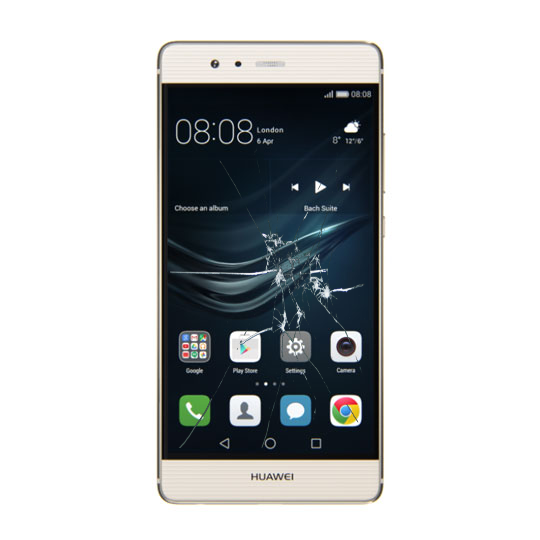 Huawei p9 skjerm bytte
