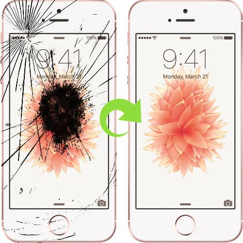 iphone 5 se skjerm bytter reparasjon
