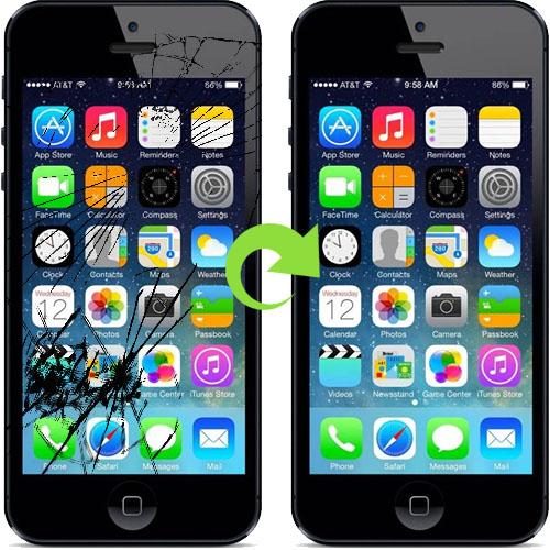 iPhone 5 skjerm bytte