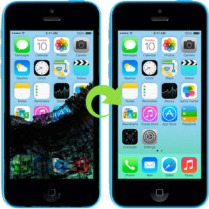 iphone 5c skjerm bytter reparasjon (1)