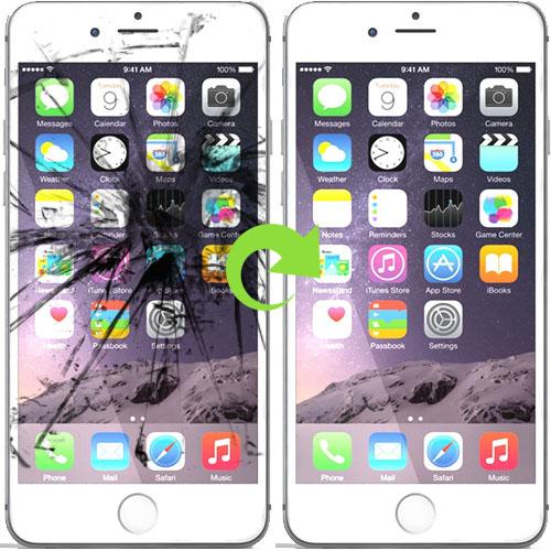iphone 6s plus skjerm bytter reparasjon