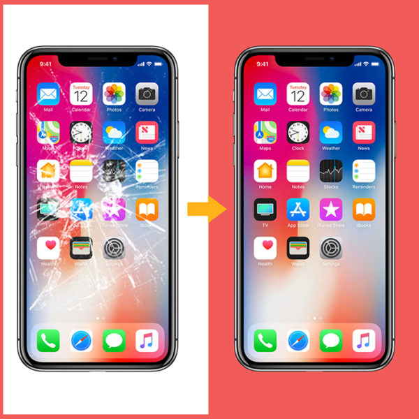 iPhone X skjerm bytte