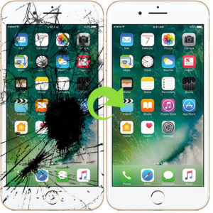 iPhone 8 Plus skjerm bytte