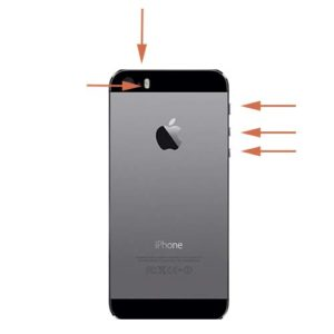 iPhone 5s låseknapp reparasjon