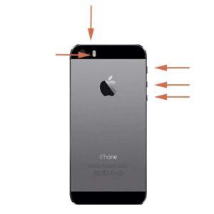 iPhone 5 SE lydløs mute knapp reparasjon